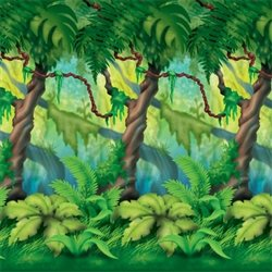 Buy this Jungle Trees Backdrop to branch out in your decorating prowess