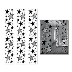 Star Party Panels Black and Silver
