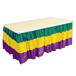 Mardi Gras Table Skirting