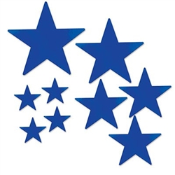 pkgd foil star cutouts blue