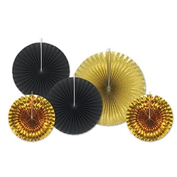 Black and Gold Assorted Paper & Foil Decorative