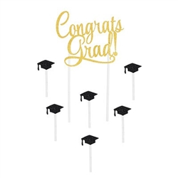 Congrats Grad Cake Topper - show your pride in your graduate!