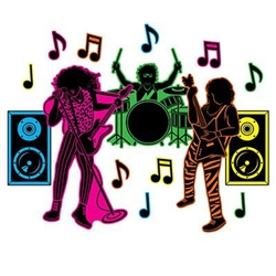 80's Hair Band Silhouettes - get ready for the power chord pose!