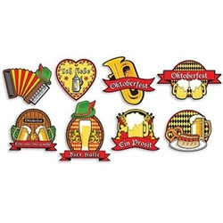 Oktoberfest Cutouts - printed on both sides!