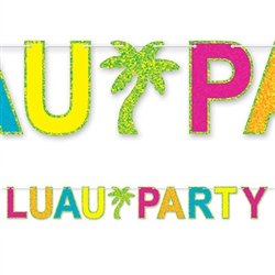 Luau Party Streamer - detail