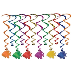 Fish Whirls - Add color, fun and movement to your next Luau or Under The Sea themed party!