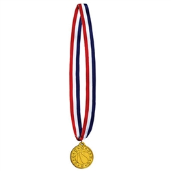 Basketball Medal w/Ribbon