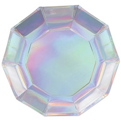 Iridescent Decagon Plates - 9inch