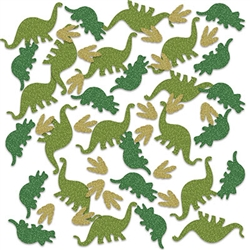 Big dinosaur fun in a small sparkly package!  You're dinosaur themed party tables will look prehistoric with this Dinosaur Deluxe Sparkle Confetti sprinkled around.  Great for scrap booking, memory books and art projects as well! Sold in 0.5 oz. packages.