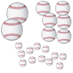 20 Piece Baseball Cutouts