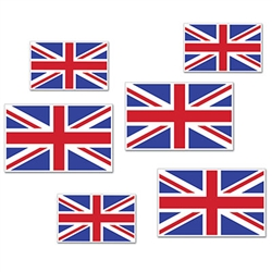 British Flag Cutouts