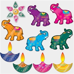 Whether you call it Diwali, Divali, Deepavali, or Deepawali; these beautiful Foil Diwali Cutouts are sure to shine and sparkle during your festival of lights.