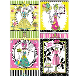 Dolly Mama's Adult Celebration Posters - 4 per package