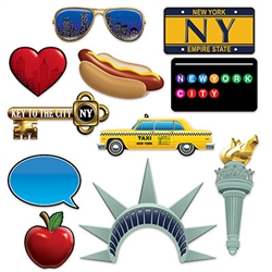 Give your guests memories that will last a lifetime at your next New York City themed party with these New York City Photo Fun Signs.