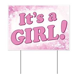 All Weather It's A Girl! Yard Sign