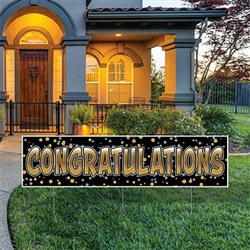 All Weather Jumbo Congratulations Yard Sign