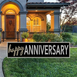 All Weather Jumbo Happy Anniversary Yard Sign