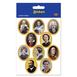 Historic Famous People Stickers (4 sheets/pkg)