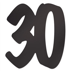 30 foil silhouette