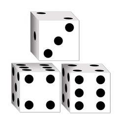 Casino Dice Party Favors