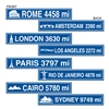 Travel Street Sign Cutouts (4/pkg)