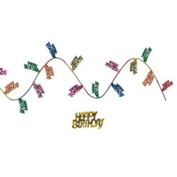 gleam n flex happy birthday garland