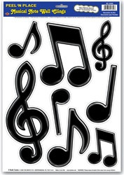Music Notes Decals (8/pkg)