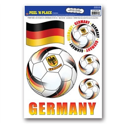 Germany Soccer Peel 'N Place (6/Sheet)