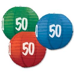 50th paper lanterns