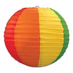 rainbow paper lanterns