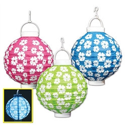 Light-Up Hibiscus Paper Lanterns