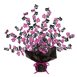 Black and Cerise 16 Gleam N Burst Centerpiece