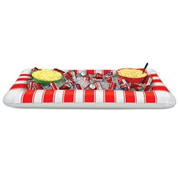 inflatable red and white stripes buffet clr