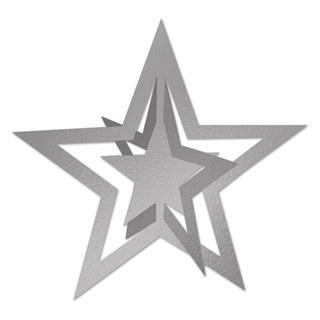 silver 3-d foil hanging star