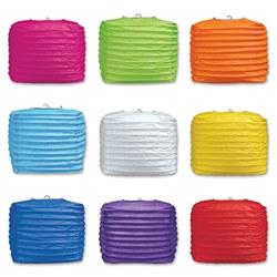 square paper lanterns