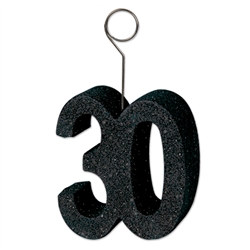 black glittered 30 photo holder