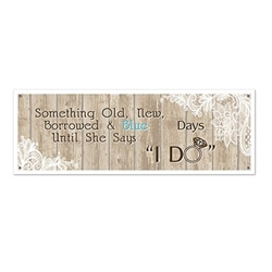 Rustic Wedding Sign Banner