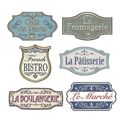 French Shop Sign Cutouts