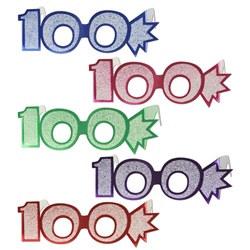 100th glittered eyeglasses