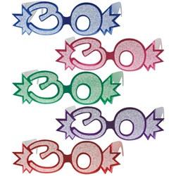 30th glittered eyeglasses