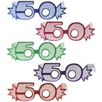 50th Glittered Eyeglasses