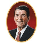 Ronald Reagan Cutout