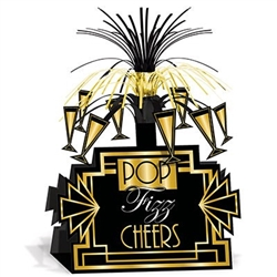Great 20's black and gold centerpiece