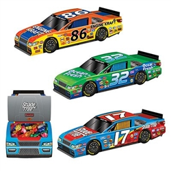 Rev up your party from the strat line with these new 3-D Race Car Centerpieces