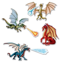 dragon cutouts