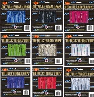 1-ply metallic fringe drape