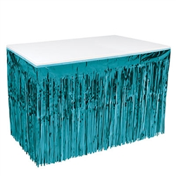 1-Ply Metallic Table Skirting - Turquoise