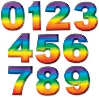 multi-color plastic 3-d number