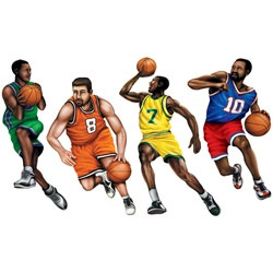 Basketball Player Cutouts (4/Pkg)