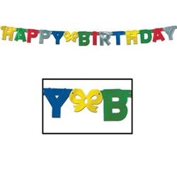 foil happy birthday streamer